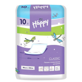 Одноразовые пелёнки Happy classic 60х90 см Bella baby Happy, 10 шт.