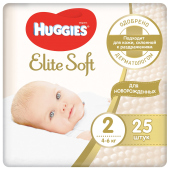 Подгузники Huggies Elite Soft 2,  4-6 кг, 25 шт.