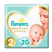 Подгузники Pampers Premium Care Mini р.2 (4-8 кг) 20 шт.