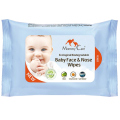 Детские влажные cалфетки для лица и носика Biodegradable Eco Baby Face & Nose Wipes, Mommy Care