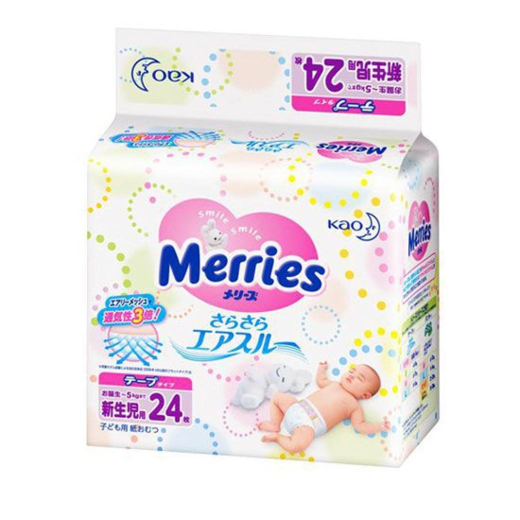 fff14e7759b3 Купить Японские подгузники, Merries, для новорождённых NB (до 5 кг ...